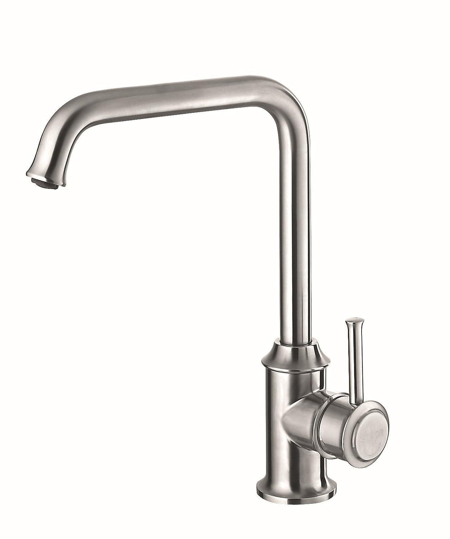 Armaturen Küche mit warmen und kalten Wasserhahn, 304 Edelstahl Waschbecken, Waschbecken und Wasserhahn