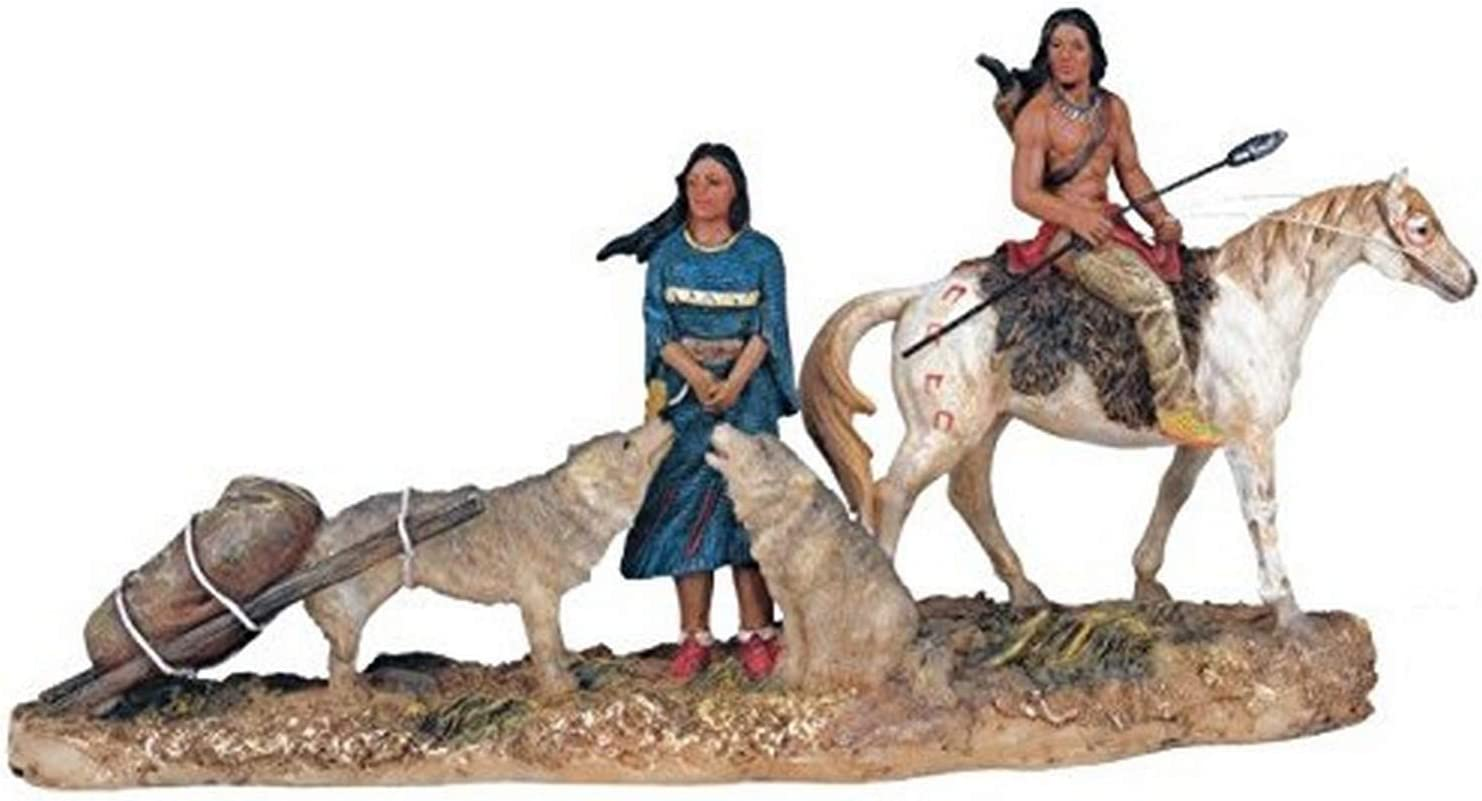 StealStreet SS-G-11393 Native American Couple Collectible Indian Figurine Sculpture Statue