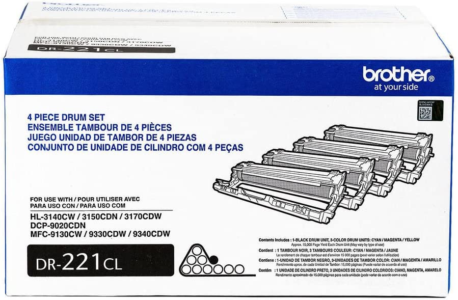 Genuine Brother DR221CL Four Drum Unit for MFC9130CW Printers