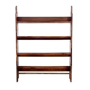 Ringabell Solid Wood Folding Book Shelf (Teak)