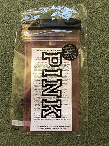 VICTORIA SECRET - PINK WATERPROOF POOL PHONE CASE water resistant phone case bag - LANYARD