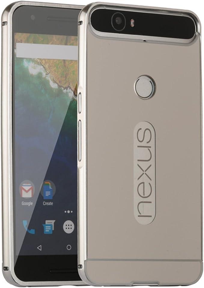 LXHGrowH Funda Espejo para Huawei Nexus 6P Aluminio Metal Carcasa ...