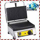 Commercial Kitchen Equipment Non-Stick CAST IRON GROOVED SURFACE LARGE SIZE Electric Panini Sandwich Press Grill Maker Machine