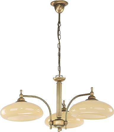 Elegante lámpara colgante de 3 focos estilo modernista Crema ...