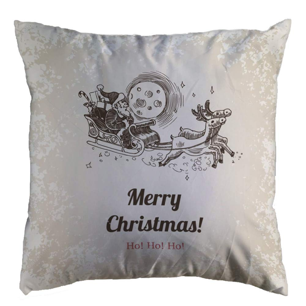 Pgojuni Christmas Cozy Pillowcase Super Soft Decoration Throw Pillow Cover Cushion Cover Square Pillow Case Sofa/Couch Home Decor 1pc 45cm×45cm (F)