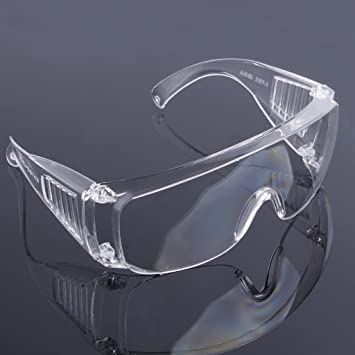 0c580aa0a14b Amazon.com   Amrka Protective Glasses Safety Goggles Glasses Work Dental Eye  Protection Sport Spectacles Eyewear Welding Goggles (Black)   Sports    Outdoors