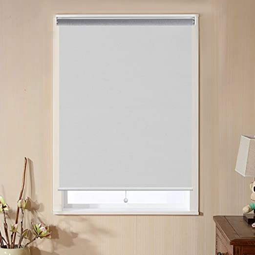 Amazon Com Window Shades For Home Blackout Shades Cordless Blinds For Bedroom Window Shade Roller Shades For Windows White 48 W X 72 H Window Coverings Shades Room Darkening Blinds Home Kitchen