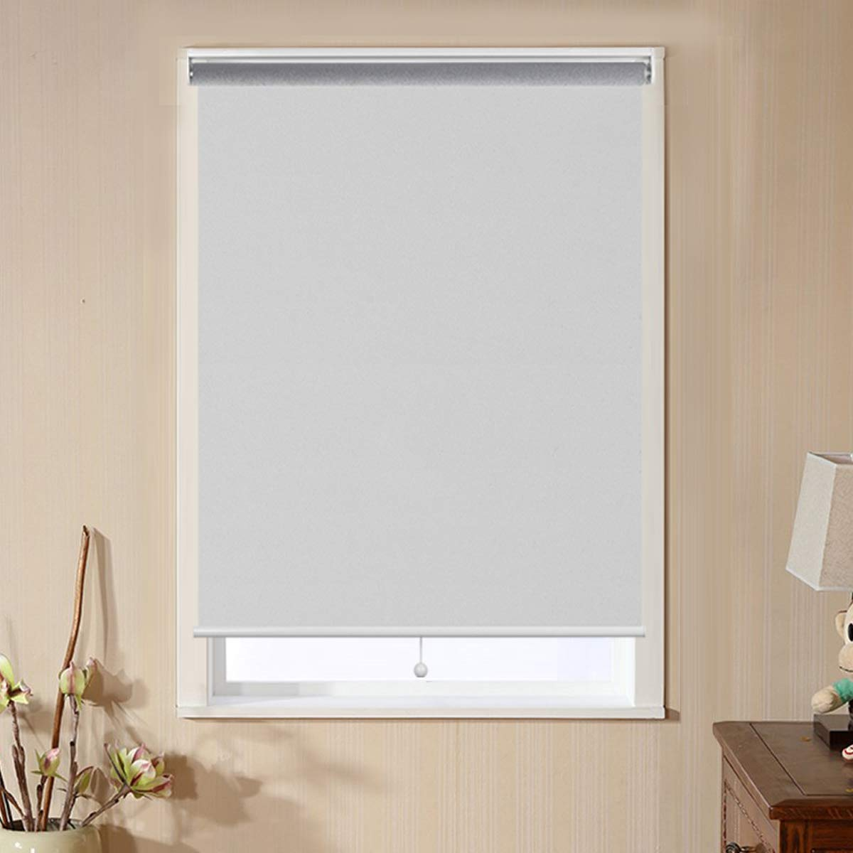 Buy Window Shades For Home Blackout Shades Cordless Blinds For Bedroom Window Shade Roller Shades For Windows White 35 W X 72 H Window Coverings Shades Room Darkening Blinds Online At Low Prices In