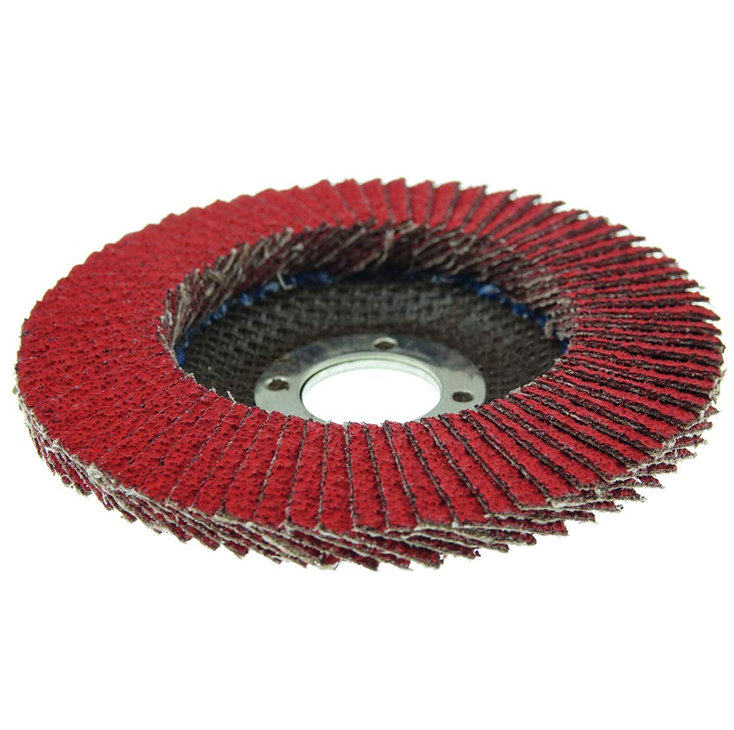 Pack of 1 Phenolic Backing Round Hole 40 Grit Ceramic Aluminum Oxide 4-1//2 Dia Type 29 4-1//2 Dia Weiler Corporation 50101 Weiler Saber Tooth Abrasive Flap Disc