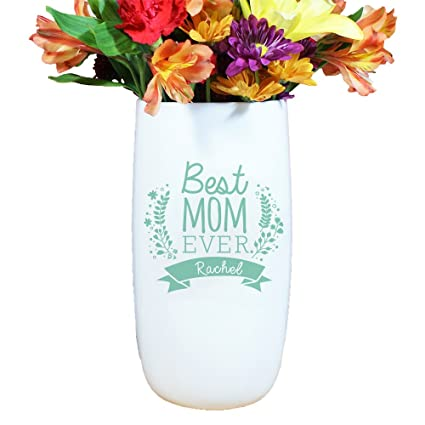 Amazon Com Giftsforyounow Best Mom Ever Personalized Vase Mint