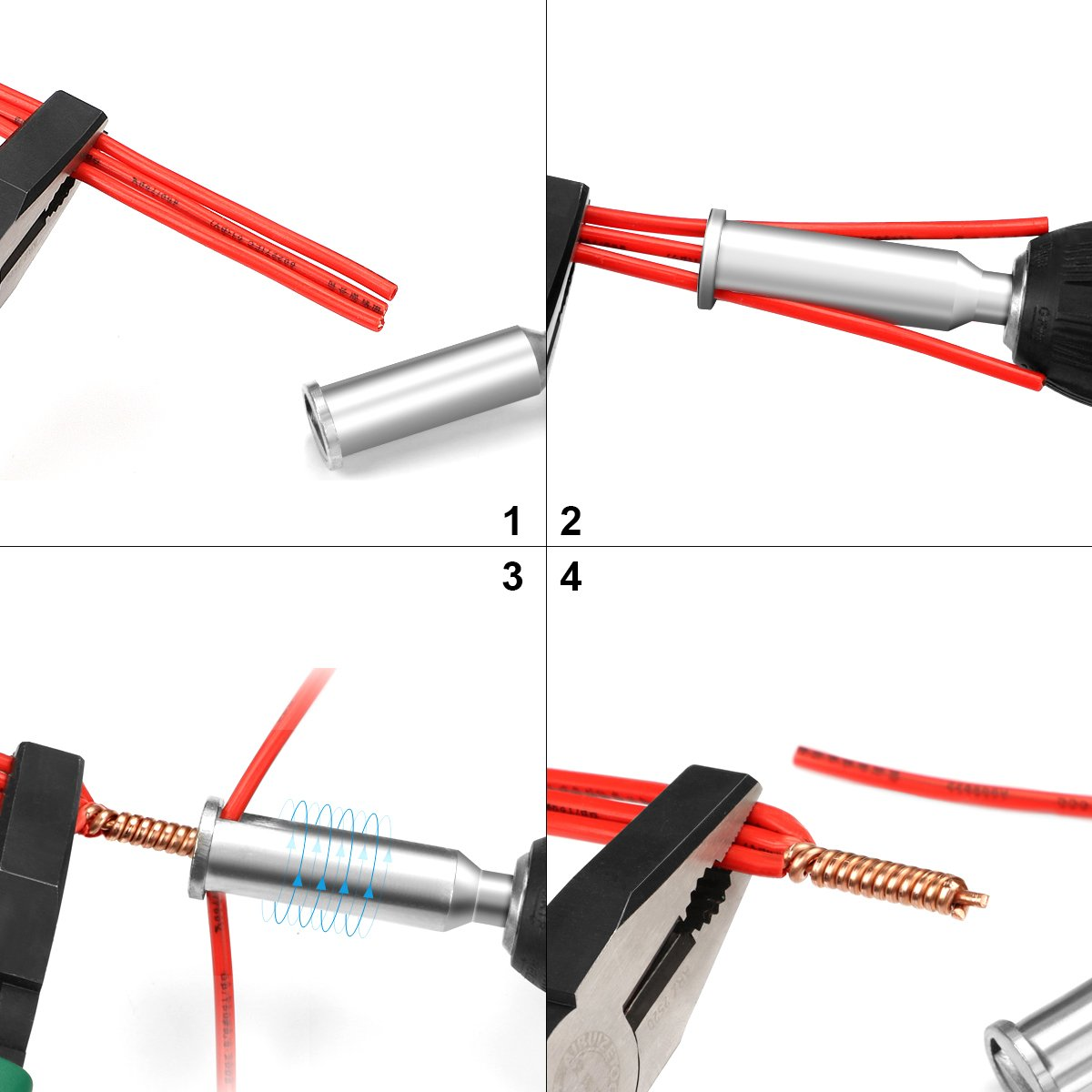 Wire Twisting Tool, Stageek Wire Connector Tool, Wire Stripper and ...