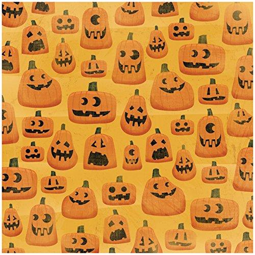 Karen Foster Design Scrapbooking Paper, 25 Sheets, Creepy Carvings, 12 x (New Halloween Pumpkin Carving Patterns)