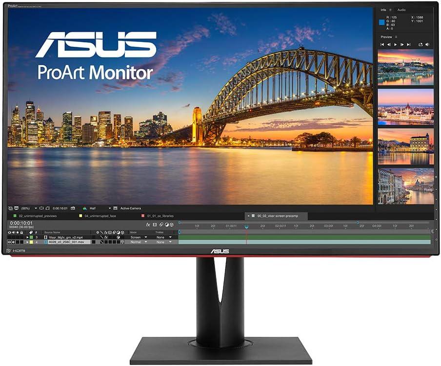 ASUS ProArt PA328Q - Monitor Profesional 4K UHD (3840 x 2160) 32 IPS, precisión de Color △E< 2, antiparpadeo: Asustek: Amazon.es: Informática
