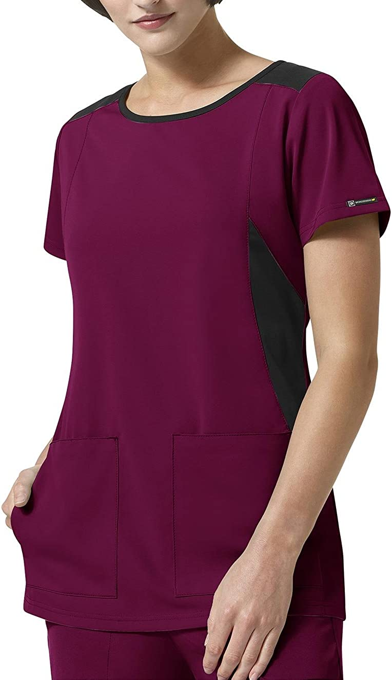 WonderWink Size Hp Sync V-Neck Women's Plus Scrub Top, Wine, 3X-Large