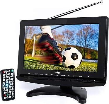Tyler TTV706 - Televisor LCD de 10 Pulgadas con Antena Desmontable, HDMI, USB, RCA, Radio FM, sintonizador Digital Integrado, entradas AV, AC/DC, 3 ...