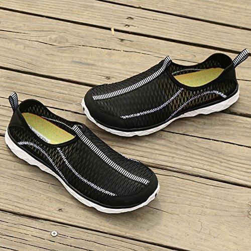 SAGUARO Black Drying Mesh On Aqua Walk Adult Quick Women's Men's Unisex Shoes Outdoor Beach Water 1q1SxU0n6