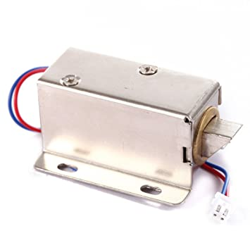 dc 12v cabinet door electric lock assembly latch solenoid for drawer locker  lock: amazon ca: camera & photo