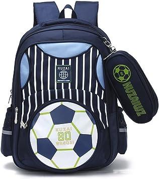 Fashion Soccer Print Large Backpack Boys Kids 3 Sets Football School Bag Student