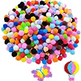 Clothful  Caydo 250 Pieces 1 Inch Pom Poms for Hobby Supplies and DIY Creative Crafts