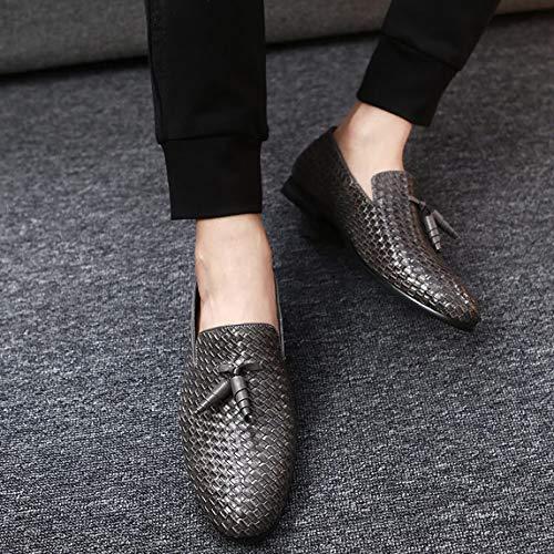 Inghilterra Uomini 48 Bebete5858 Dimensione particolarmente Extra scarpe casuale Uomo PU scamosciato Grande Pelle stile Grigio IXqqZ7Bw