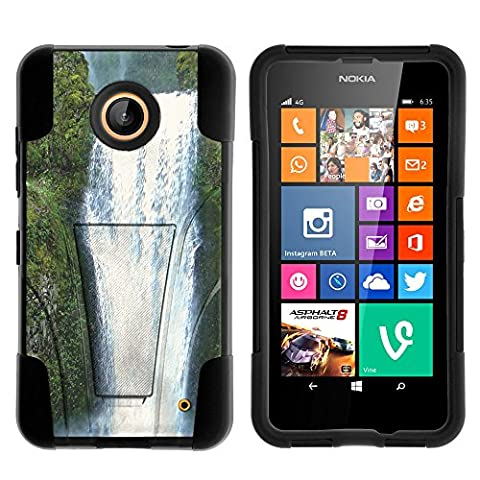 Lumia 635, Lumia 630, Dual Layer Shell STRIKE Impact Kickstand Case with Unique Graphic Images for Nokia Lumia 635, 630 (AT&T, Sprint, T Mobile, Cricket, Virgin Mobile, Boost Mobile, MetroPCS) from MINITURTLE | Includes Clear Screen Protector and Stylus Pen - Beautiful (Nokia Lumia 635 Cases For Guys)