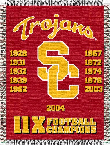 The Northwest Company Officially Licensed NCAA USC Trojans Commemorative Woven Tapestry Throw Blanket, 48