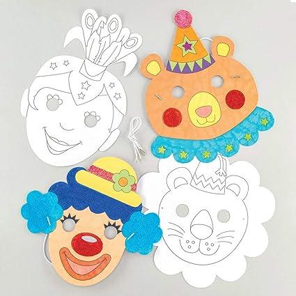 Amazon.com: Baker Ross - Máscaras de colores en kits de ...