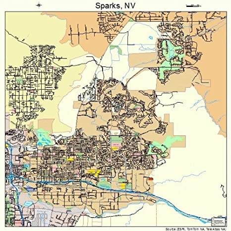 Amazon.com: Large Street & Road Map of Sparks, Nevada NV ...