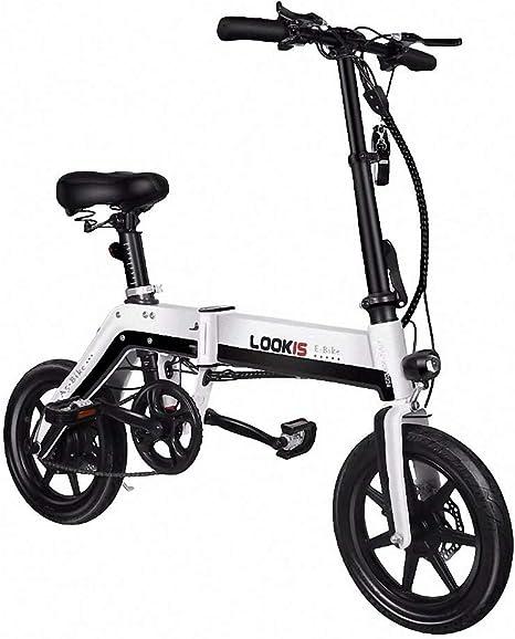 CBA BING Bicicleta eléctrica eléctrica de Viaje Plegable para ...