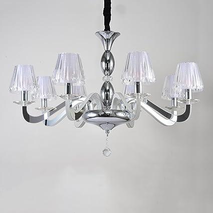 Augrous Lámparas de Araña Moderno LED Cristal Iluminación de ...