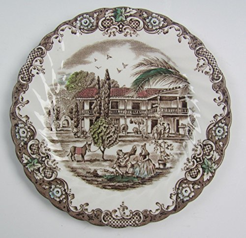 Johnson Bros China HERITAGE HALL-BROWN/MULTICOLOR Bread & Butter Plate(s) (Ironstone Bread Plate)