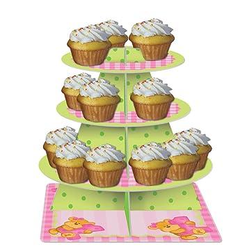 1 Geburtstag Madchen Teddy Muffin Cupcake Etagere Amazon De