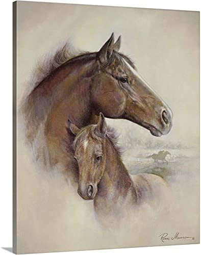 Race Horse II Canvas Wall Art Print