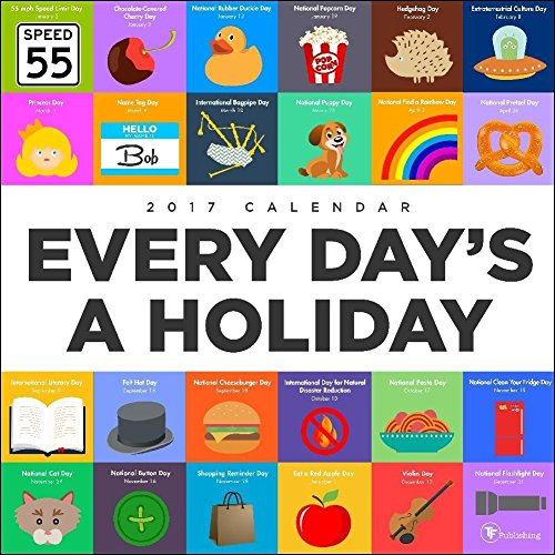 TF Publishing Every Days A Holiday Big Grid 2017 Wall Calendar (Wall Calendar With Holidays)