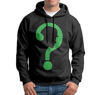 FLUBOY The Riddler Mens Cotton Hooded Sweatshirt Jacket Black