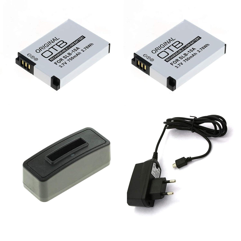 USB WB2100 Akku WB855F SLB-10A für Samsung WB800F Dual-Ladegerät WB850F