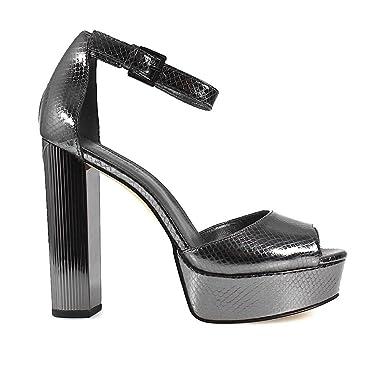 746d5b18b62e MICHAEL KORS Women s Shoes Paloma Platform Gunmetal Sandal Spring Summer  2018