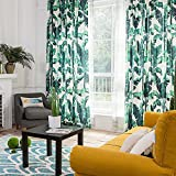 KARUILU home Window Curtain With Summer Mood (Custom, Green Banana Leaves B) Review