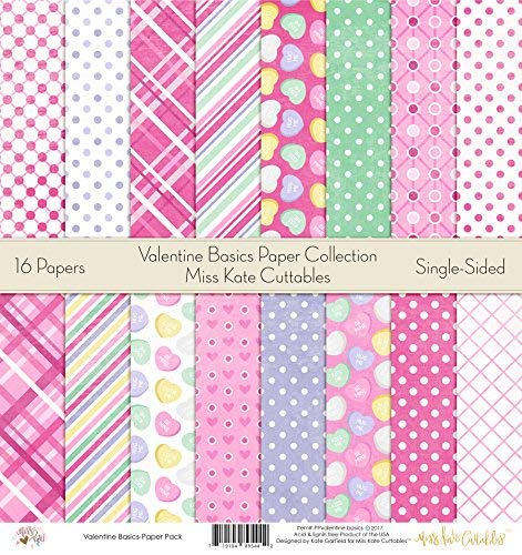 Pattern Paper Pack - Valentine Day Basics - Scrapbook