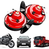 【2 PACK】300DB Train Horn for Trucks 12v Double Horn Raging Loud Air Electric Snail Single Horn Waterproof Motorcycle…