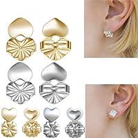 Gomech Magic BAX retro orecchini ipoallergenico Fits all post orecchini gioielli accessori orecchino ascensori per donne e ragazze (2argentato dorato + 2)