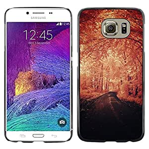 """Pulsar Snap-on Series Teléfono Carcasa Funda Case Caso para Samsung Galaxy S6 , Invierno Vignette Naturaleza Camino de la Libertad"""""""