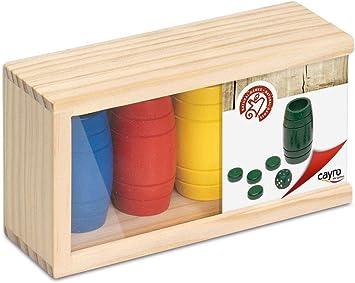 Cayro - Accesorios de Parchís de Madera para 4 Jugadores - Juego de Tradicional - Juego de Mesa - Desarrollo de Habilidades cognitivas - Juego de Mesa (619C): Amazon.es: Juguetes y juegos