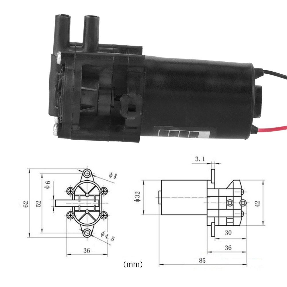12 V Zc-A250 Mini Selbstansaugende Korrosionsbest/äNdige Dc-Getriebe-Wasserpumpe Getriebe-Wasserpumpe