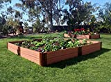Frame It All 300001099 2'' Series Composite Raised Garden Bed Kit, 8' x 8' x 11''