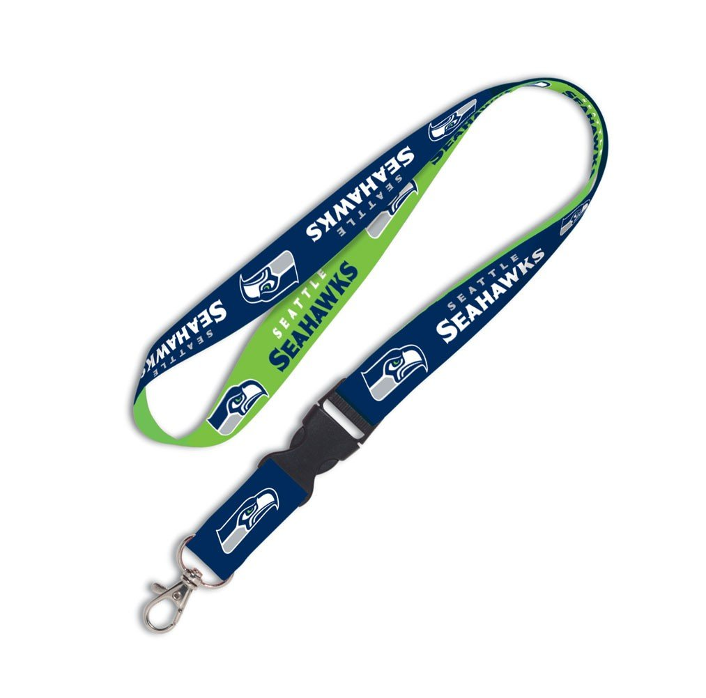 WinCraft Seattle Seahawks NFL Football Sports Team Detachable Lanyard with Key Ring