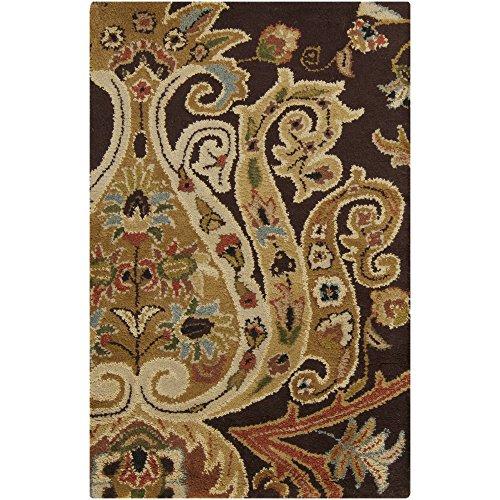 Surya Ancient Treasures 2-Feet by 3-Feet Semi-Worsted New Zealand Wool Hand Tufted Area Rug