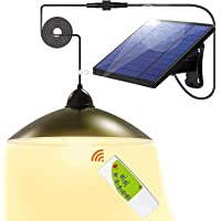 Upgraded All-Day Mode Solar Lights - 3 Color Solar Powered Lights, IP65 Waterproof Remote Control Shed Lights, Solar…