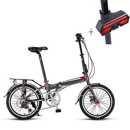 Huoduoduo Bicicleta, Bicicleta Plegable, 20 Pulgadas, Aleación De Aluminio, Frenos De Disco