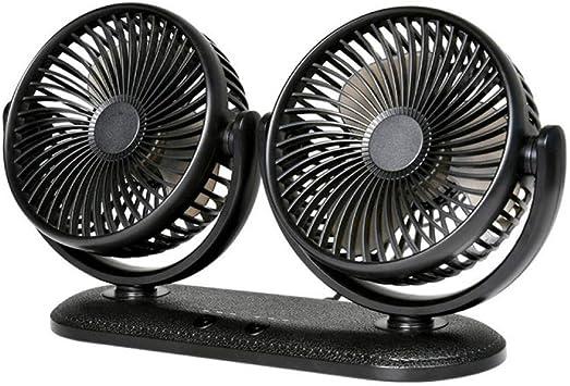 Alpha HJTY-fan Ventilador Doble Cabeza Interfaz USB Pequeño Ventilador Eléctrico Coche con Refrigeración Plantación ...